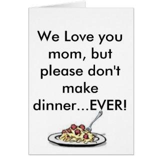Mamães do feliz dia das mães cartão comemorativo