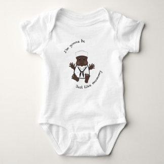 Mamães do marinheiro body para bebê