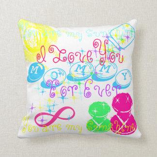 """Mamães do travesseiro """"eu te amo para sempre, luz almofada"""