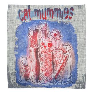 mamãs do gato com fundo textured faixas para cabeça
