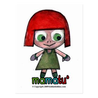 mamatu, exemplo dos eletrônicos cartão postal