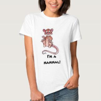 Mamífero adiantado t-shirts