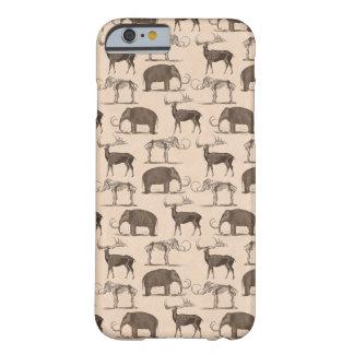 Mamíferos pré-históricos Megaceros e Mammoth Capa Barely There Para iPhone 6