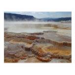 Mammoth Hot Springs Yellowstone Cartões Postais