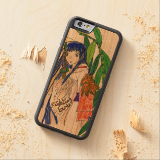 Mana, a jovem rapariga samourai capa de cerejeira bumper para iPhone 6