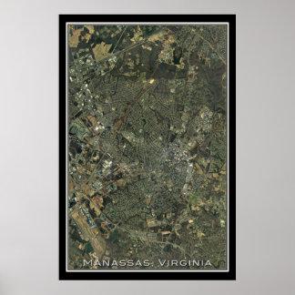 Manassas Virgínia da arte do satélite do espaço Poster