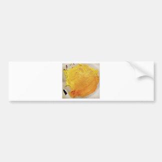 Mancha amarela da pintura da textura adesivo