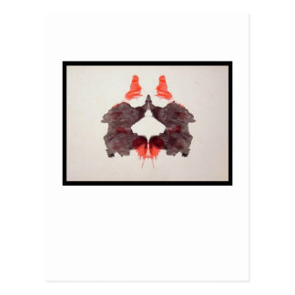 Mancha de tinta 2,0 de Rorschach Cartão Postal