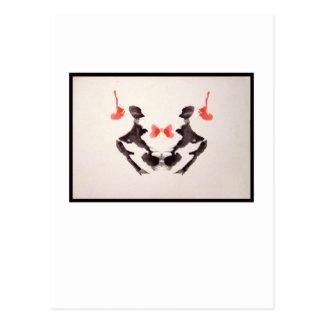 Mancha de tinta 3,0 de Rorschach Cartão Postal