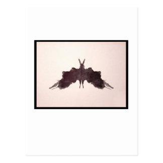 Mancha de tinta 5,0 de Rorschach Cartão Postal