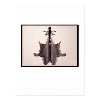 Mancha de tinta 6,0 de Rorschach Cartão Postal