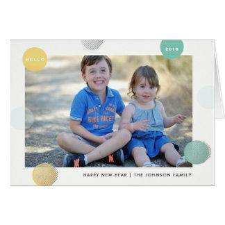 Manchado Dotty - cartão do feriado do ano novo das