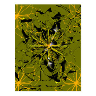 Manchas douradas do abstrato das pétalas cartão postal