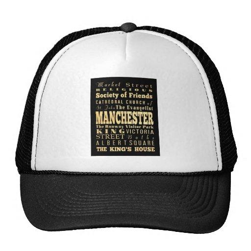 Manchester City da arte da tipografia de Reino Uni Bonés