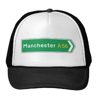 Manchester, sinal de estrada BRITÂNICO Boné