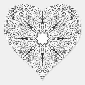 Mandala 1-63 do livro para colorir adesivo coração