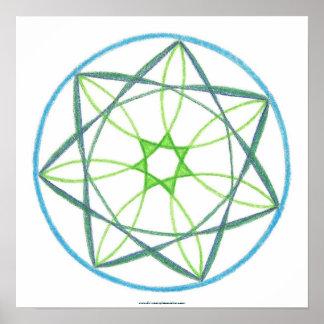 Mandala #2 da transformação pôsteres