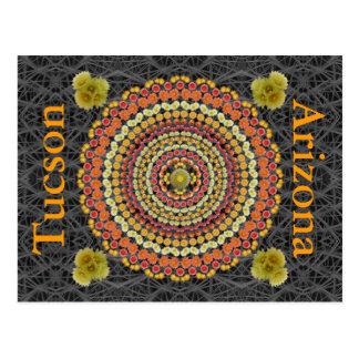 Mandala 2 do cacto de tambor como um cartão