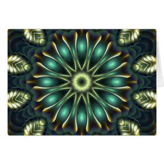 Mandala 2 do nautilus cartão comemorativo