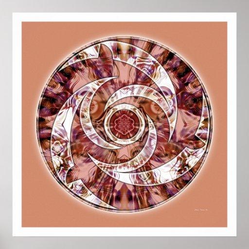 Mandala 3 do círculo da colheita posteres