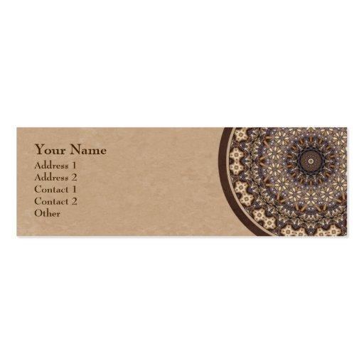 Mandala abstrata das cores do café modelo cartão de visita