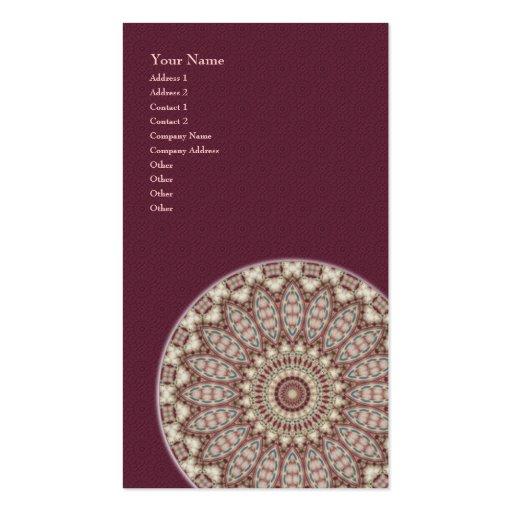 Mandala acolchoada do conforto - cartão de visita