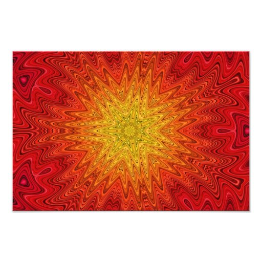 Mandala alaranjada e amarela de Sun/estrela/coraçã Fotos
