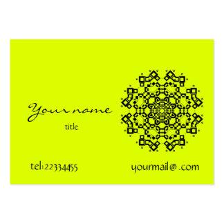 mandala amarela fluorescente modelos cartões de visita
