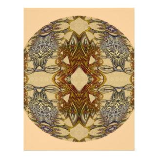 Mandala ambarina do caleidoscópio dos dragões panfletos coloridos