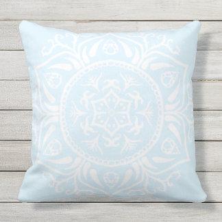 Mandala ártica almofada para ambientes externos