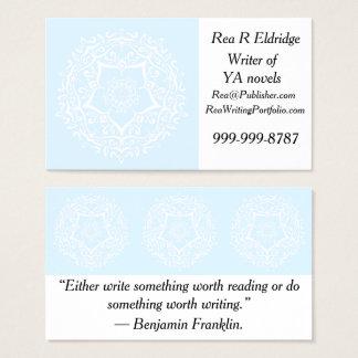 Mandala ártica cartão de visitas