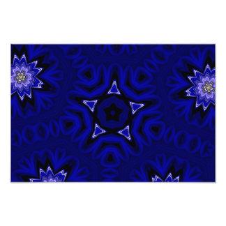 Mandala azul com estrela e flores artes de fotos