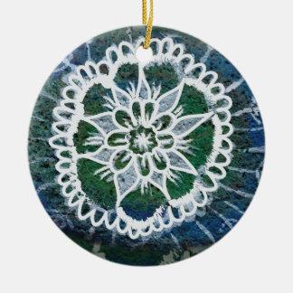 Mandala azul Edelweiss do ornamento do círculo