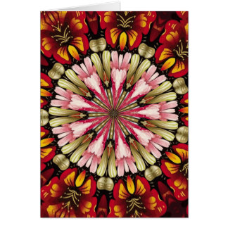 Mandala botânica dos sonhos cartão
