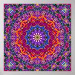 Mandala brilhante de India Poster