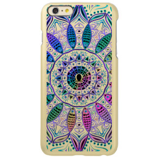 Mandala colorida do Libra do sinal do zodíaco Capa Incipio Feather® Shine Para iPhone 6 Plus