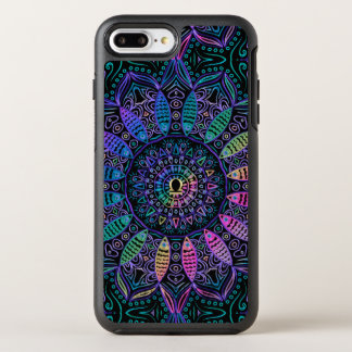 Mandala colorida do Libra do sinal do zodíaco Capa Para iPhone 7 Plus OtterBox Symmetry