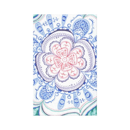 Mandala colorida na lona impressão em tela canvas