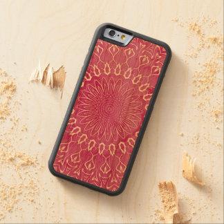 Mandala cor-de-rosa da aguarela capa de cerejeira bumper para iPhone 6