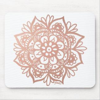 Mandala cor-de-rosa Mousepad do ouro