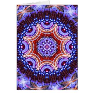 Mandala cósmica da geometria cartão comemorativo
