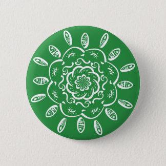 Mandala da alga bóton redondo 5.08cm
