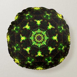 Mandala da energia da natureza almofada redonda