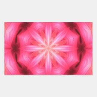 Mandala da estrela do coração adesivo retangular