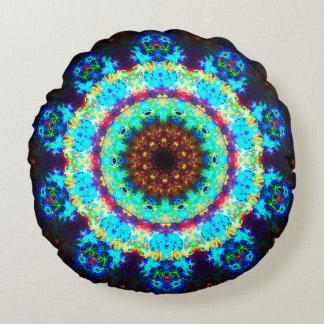 Mandala da flor de Pandora Almofada Redonda