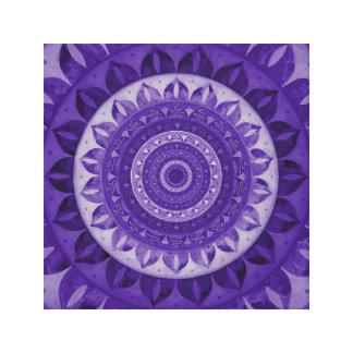 Mandala da flor de paraíso impressão em tela