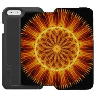 Mandala da flor do fogo capa carteira incipio watson™ para iPhone 6
