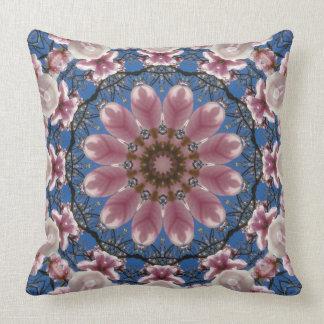 Mandala da flor, flores cor-de-rosa do primavera almofada