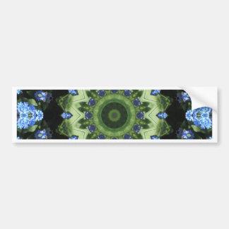 Mandala da flor, miosótis, teste padrão adesivo para carro