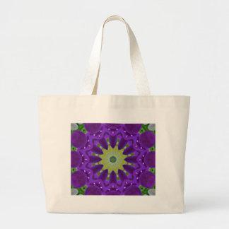 Mandala da flor, violett dos Pansies Sacola Tote Jumbo